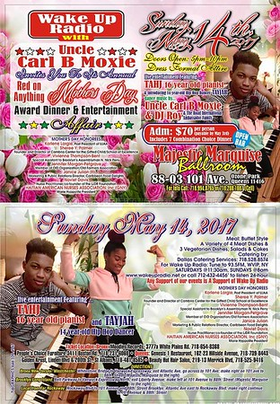 "UNCLE CARL B MOXIE'S ANNUAL ""MOTHERS DAY AWARD 2017""(20)"