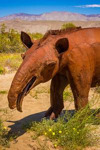 Tapir metal sculpture at Anza-Borrego State Park in California