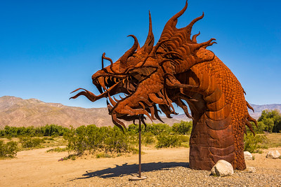 Dragon metal sculpture at Anza-Borrego State Park in California