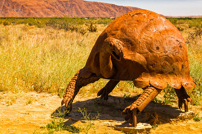 Turtle metal sculpture at Anza-Borrego State Park in California
