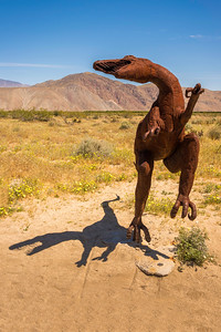 Raptor metal sculpture at Anza-Borrego State Park in California