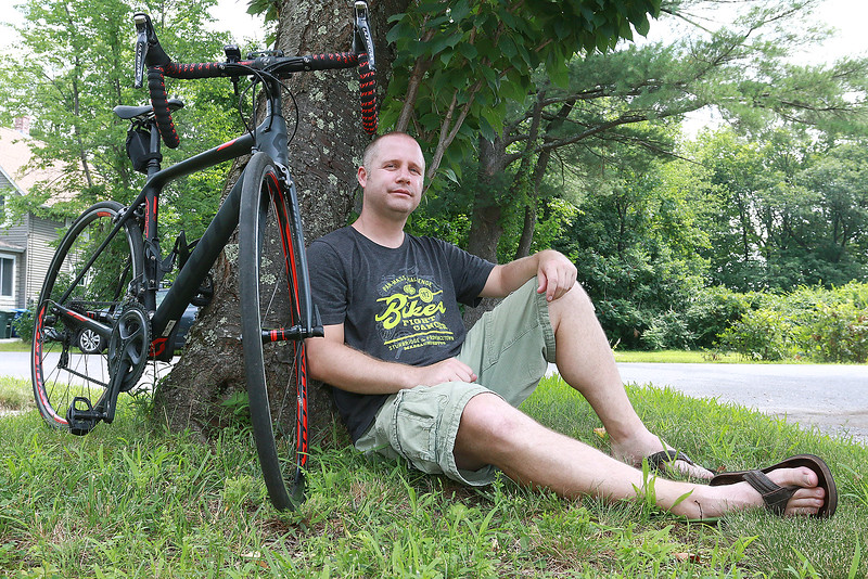 Chris Pobieglo of Leominster will be taking part in this years Pan-Mass Challenge. SENTINEL & ENTERPRISE/JOHN LOVE