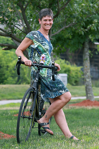 Andrea Comeau of Leominster will be taking part in this years Pan-Mass Challenge. SENTINEL & ENTERPRISE/JOHN LOVE
