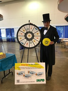 Abraham Lincoln taking his chance on the IAPD wheel!