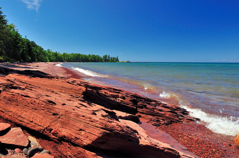 Red Rock, Blue Sky, Seven Mile Point by Dennis Hake