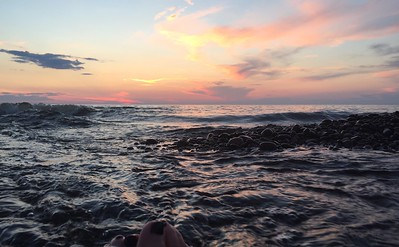 Free spa with sunset by Carla Palosaari