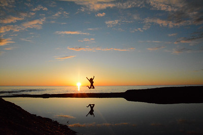 Jumping into the Sunset by Claire Haapala