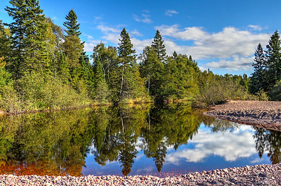 Reflection of the Northwoods in Gratiot River by Bob Vogt