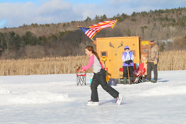 Ice Fishing Derby at Dewey Pond, 2017