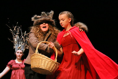 IMG_5784 emily dean as the wolf, little red rding hood  played by riley earle