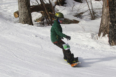 PHOTO BY HERB SWANSON: Zev Wysocki warms up before competing in the Mini Shread Madness at Killington Ski Area in Vermont on Saturday January 14, 2017. Mini Shred Madness is all about having fun in a competition setting.  http://herbswanson.smugmug.com/