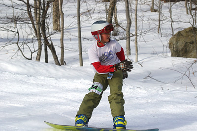 PHOTO BY HERB SWANSON: Timothy Mrachek warms up before competing in the Mini Shread Madness at Killington Ski Area in Vermont on Saturday January 14, 2017. Mini Shred Madness is all about having fun in a competition setting.  http://herbswanson.smugmug.com/