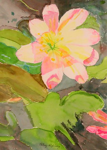 IMG_2520  Alpine Flower Fantasy,,watercolor