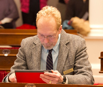 PHOTO BY HERB SWANSON:  Paul Belaski on the first day of the 2017 Legislative session at the State House in Montpelier, Vermont on January 4, 2017