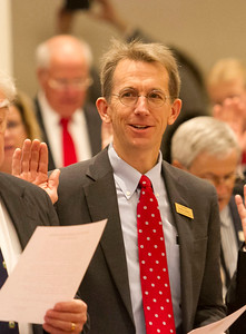 PHOTO BY HERB SWANSON:  Charlies Kimball on the first day of the 2017 Legislative session at the State House in Montpelier, Vermont on January 4, 2017