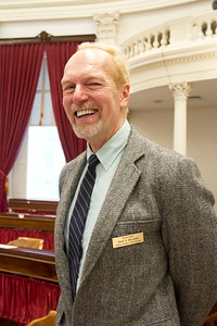 PHOTO BY HERB SWANSON:   on the first day of the 2017 Legislative session at the State House in Montpelier, Vermont on January 4, 2017