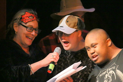 IMG_6484 keegan moriarty as a dog and D'emon Bivens as a farm hand ,,singing