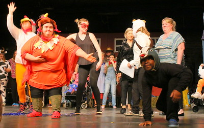 IMG_6561 molly kirby as a turkey and marcus atwood as a goat,,,take a bow