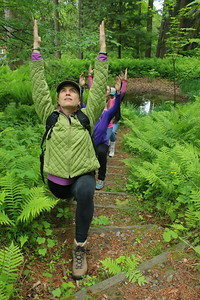 IMG_6715 amanda anderson, at left, leading the yoga hike
