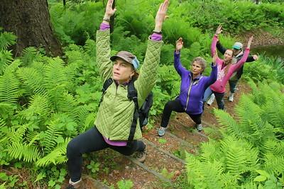 IMG_6706 amanda anderson, at left,,leading Yoga hike