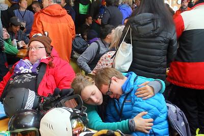 IMG_2289 Haley Cleary comforts phillip kellem, of Vt Adaptive Sugarbush
