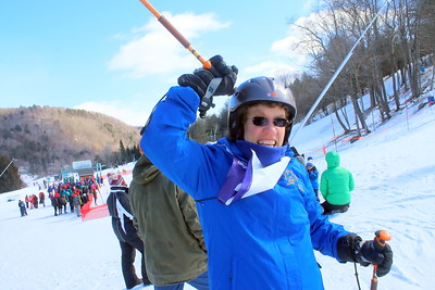 IMG_2404 laura Buchanan of Upper Valley Hawks, celebrates a fast ski run