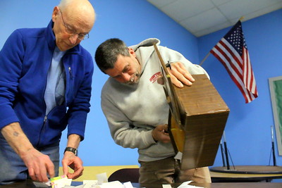 IMG_2777 jerry oppenheimer, a JP, and town constable mike sawyer,,begin process of counting votes for school  budget vote