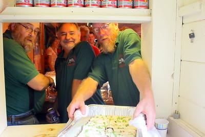 IMG_5778 food servers and club members,,dana bacon, bob burke, bill gokey