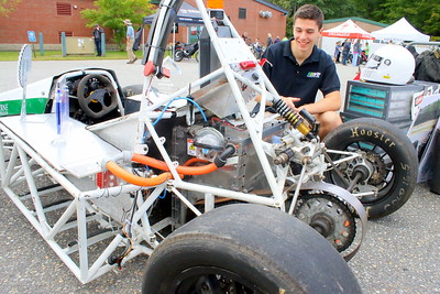 IMG_4411 Erik Loscalzo, dartmouth student, shows car built by Dartmouth Formula Racing club