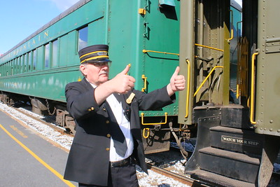 IMG_4738 guest representitive Brian McGregor, gives the ok for the train to leave