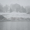 Wabash River during heavy snowfall