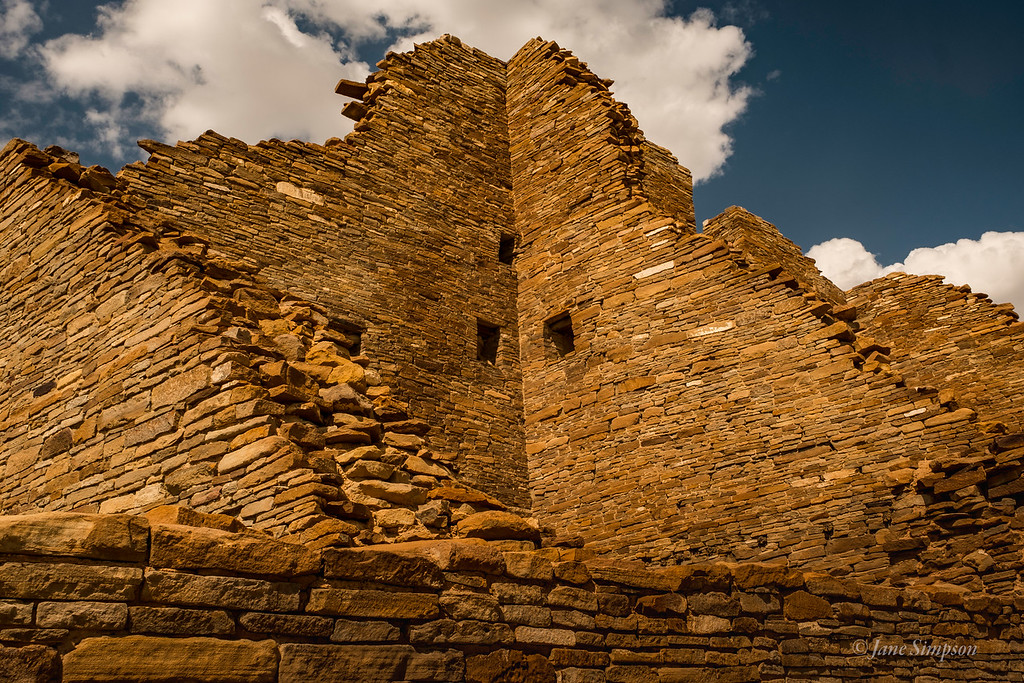 Structures were 4-5 stories high, employing different masonry as the enormous compound rose higher or expanded.