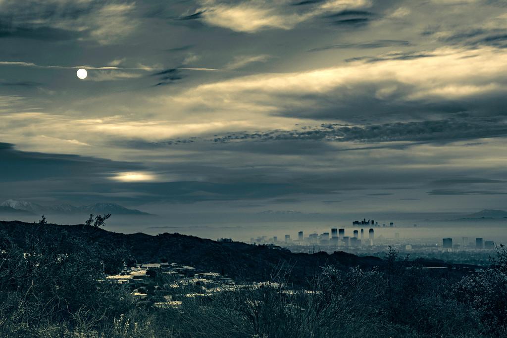 Feb Snow Moon Over LA