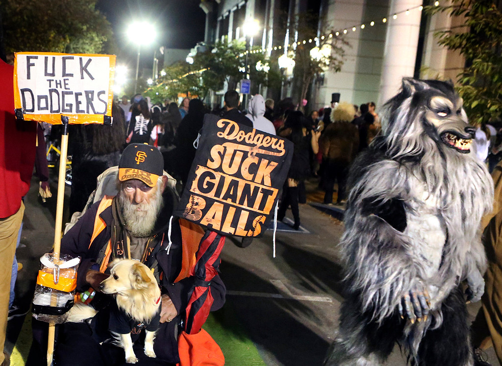 . Halloween night on Pacific Avenue