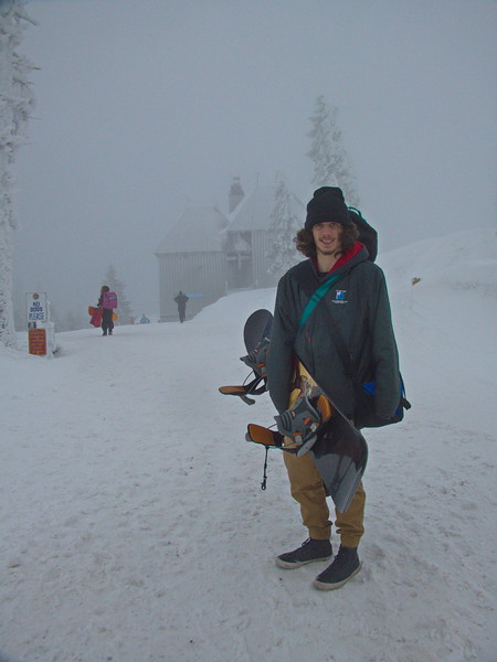 Ready to snowboard Mt Ashland, February 5, 2017