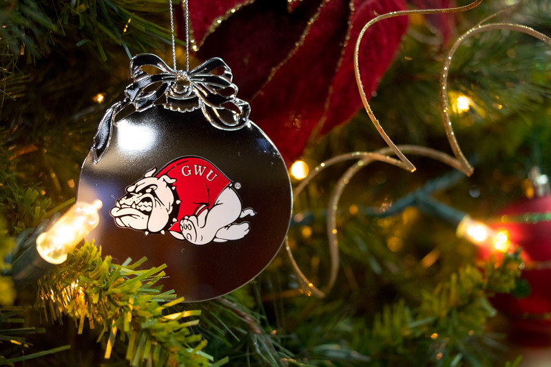 GWU Bulldog Ornament 2017