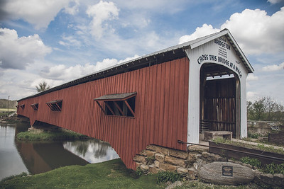 The Bridgeton covered bridge in Bridgeton, Indiana.
