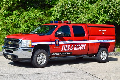 Fire Marshal 523, a 2011 Chevy 2500.