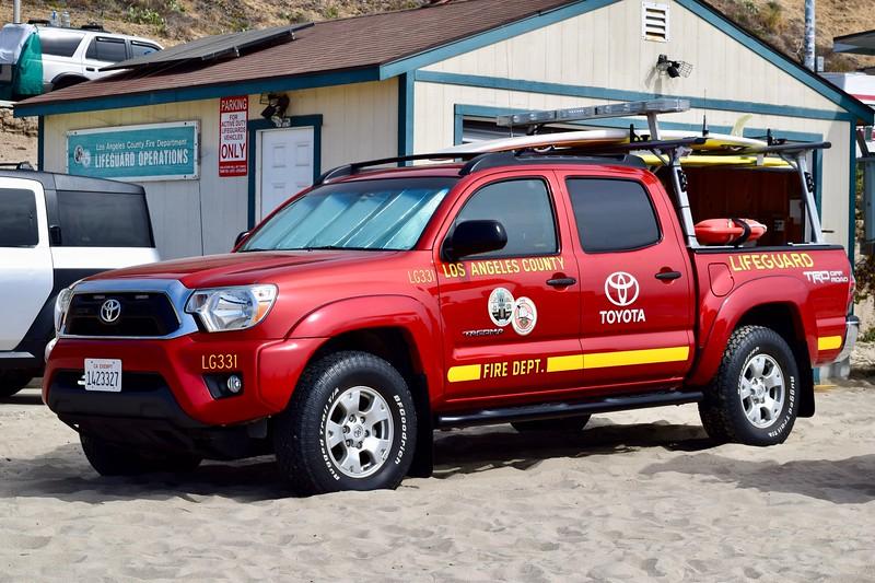 Lifeguard 331, LA County.  Toyota Tacoma.
