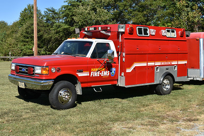 Housed at Hanover County, Virginia Station 4 (Doswell) is Mass Casualty 4, a 1989 Ford F350/Reading that also pulls a trailer.  This Ford has served a variety of roles in its career in Hanover County, including at one time being the Technical Rescue unit.