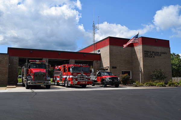 Prince William County Fire and Rescue - Evergreen Station 15.  Formerly owned by the Evergreen VFD, operations were turned over to the County when the VFD was dissolved.
