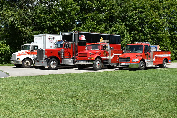 The Keplinger Repair Service (Winchester, VA) main fleet as photographed in August of 2017.