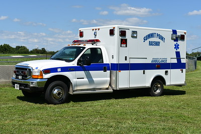 """""""899"""" from Summit Point is a 1999 Ford F350 built by PL Custom and purchased from the Blue Ridge Volunteer Fire Department in Clarke County, Virginia."""