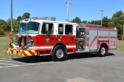 Engine 4 from Hanover County, Virginia Doswell station is a 2015 Spartan MetroStar/ERV equipped with a 2000/750.