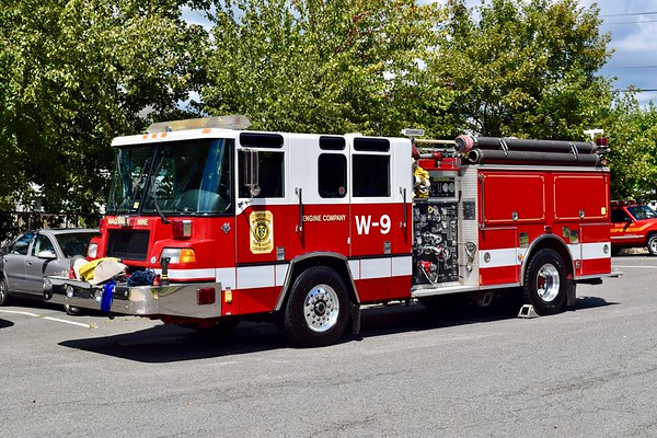 Engine 509B is a 1999 Pierce Quantum, 1500/500/40.  Due for replacement with the arrival of a new engine.
