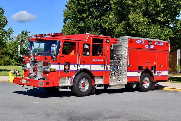 Photographed shortly after entering service, Engine 504 is this sharp 2016 Pierce Arrow XT, 1500/750/40/40, sn- 30389-04.  One of five engines delivered, others went to Engines 515 (Evergreen), 524 (Antioch), 526 (Davis Ford), and 593 (Training Academy).