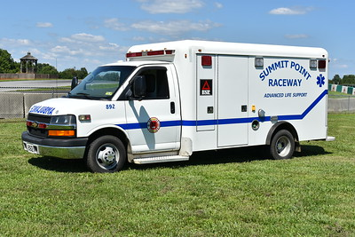 """""""892"""" is one of two 2008 Chevrolet/Crestline Coach ambulances that once served in Canada.  Serial number FM6936.  Received in 2016."""
