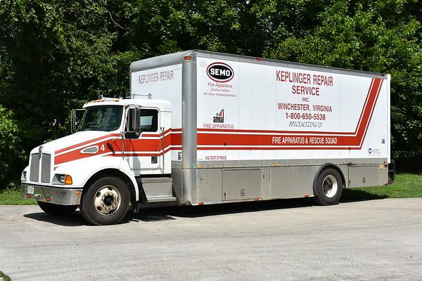 "Keplinger Repair Service - Winchester, Virginia. ""4"" is a 1997 Kenworth."