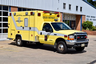 Ambulance 506 is a 1999 Ford F-350 4x4/Excellance.  One of two units.  ex- Coles District VFD.