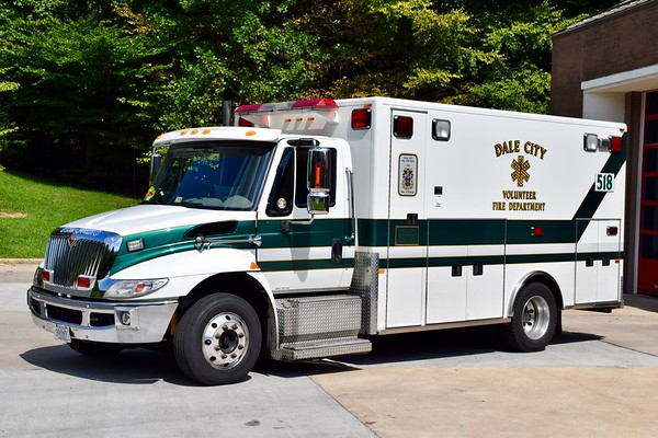 Running as Medic 518 when photographed, Ambulance 513B is this 2007 International/PL Custom.